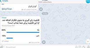نحوه نظر سنجی در تلگرام